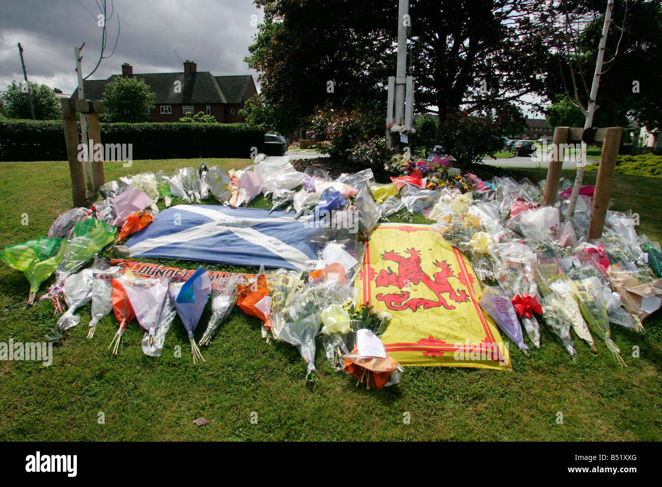 On The Day Of His Funeral Flowers Left Outside Police Station In