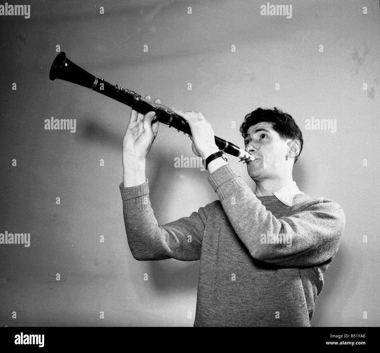 Cy Laurie January 1955 soprano sax player - Stock Image