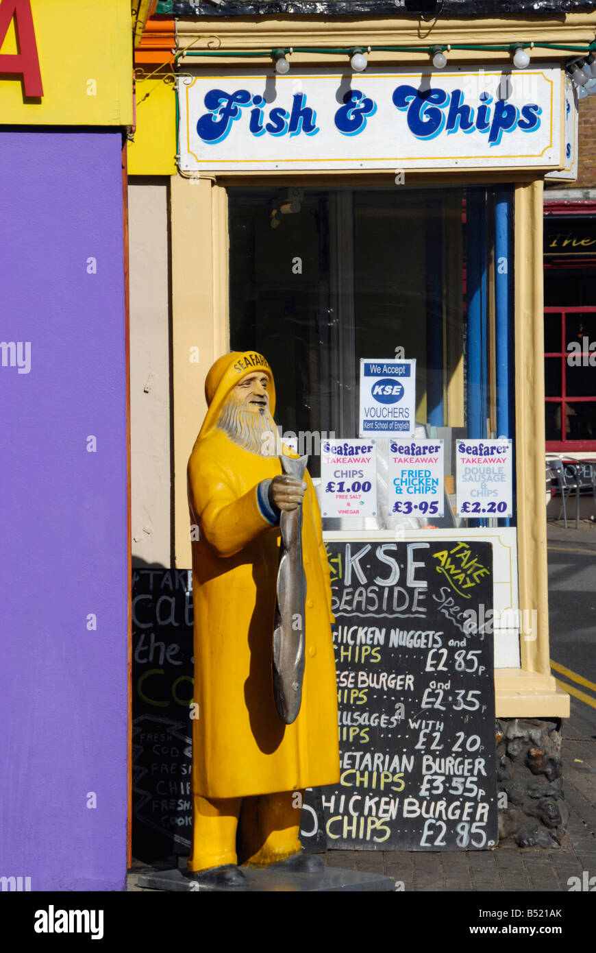 Fish and chip shop in Broadstairs Kent England - Stock Image