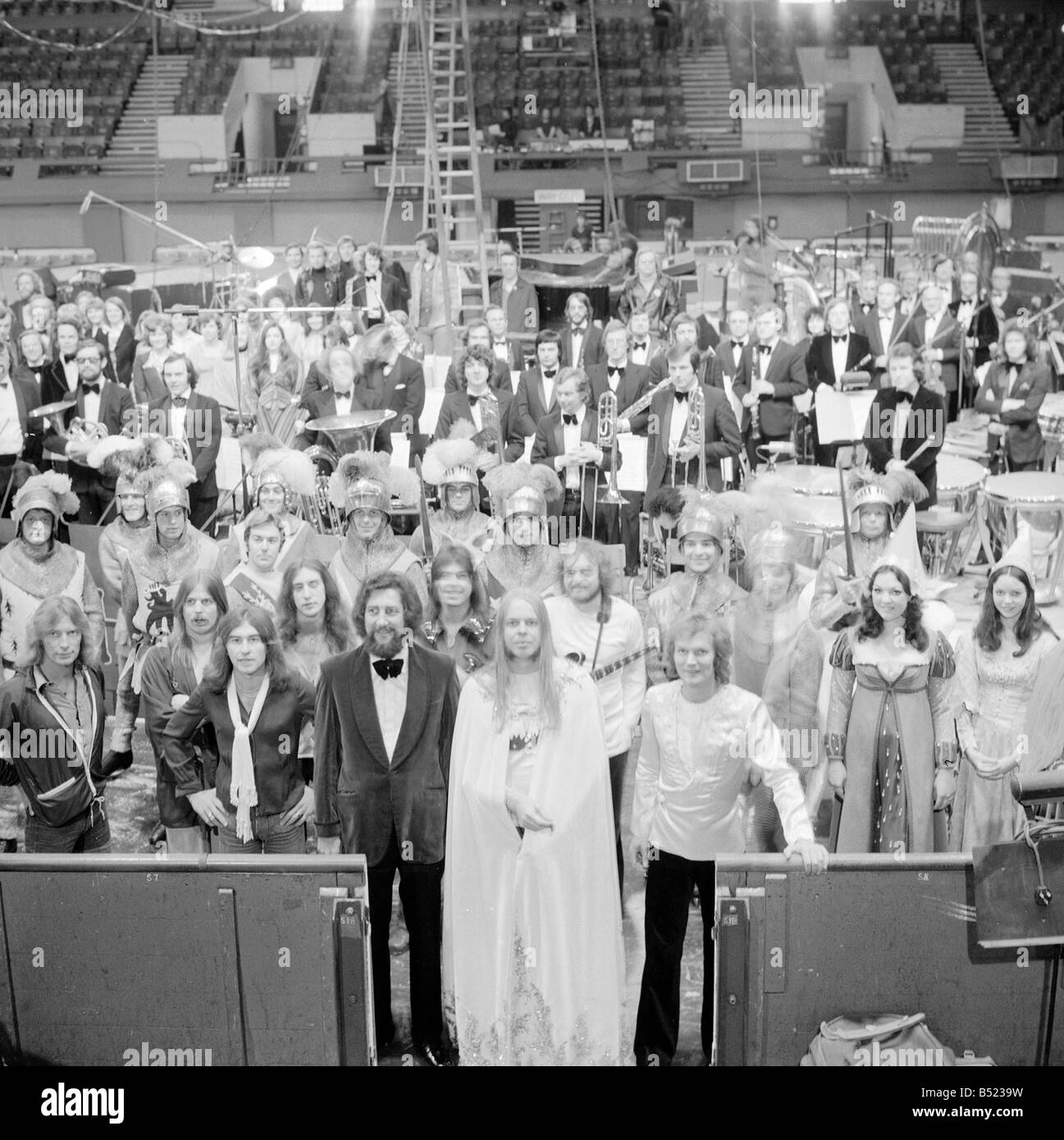 Rick Wakeman and the cast of King Arthur and the Knights of the