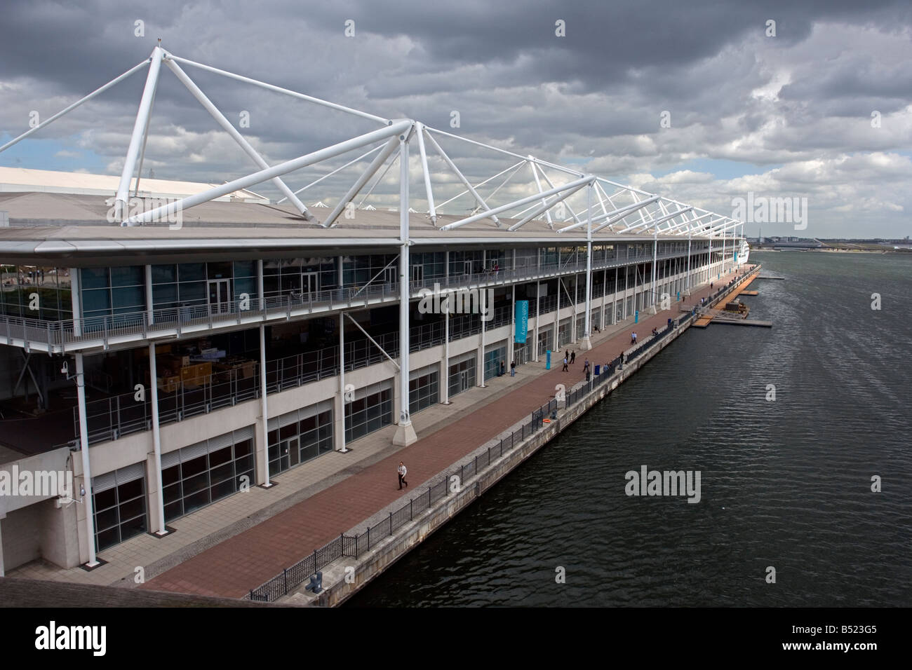 the Excel Exhibition Centre at Royal Victoria Dock London UK - Stock Image