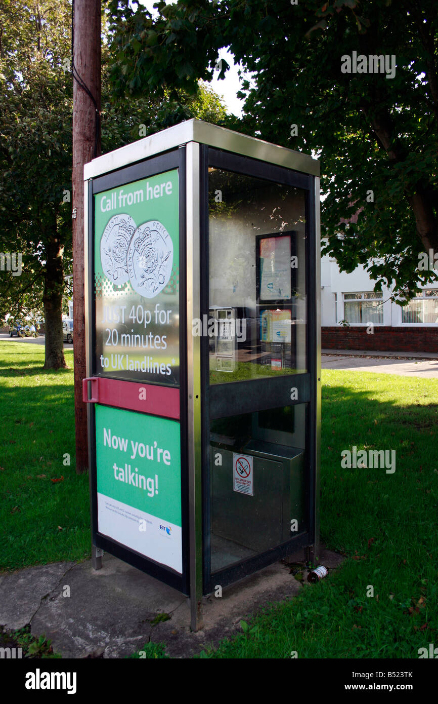 British Telecome BT Public telephone kiosk - Stock Image