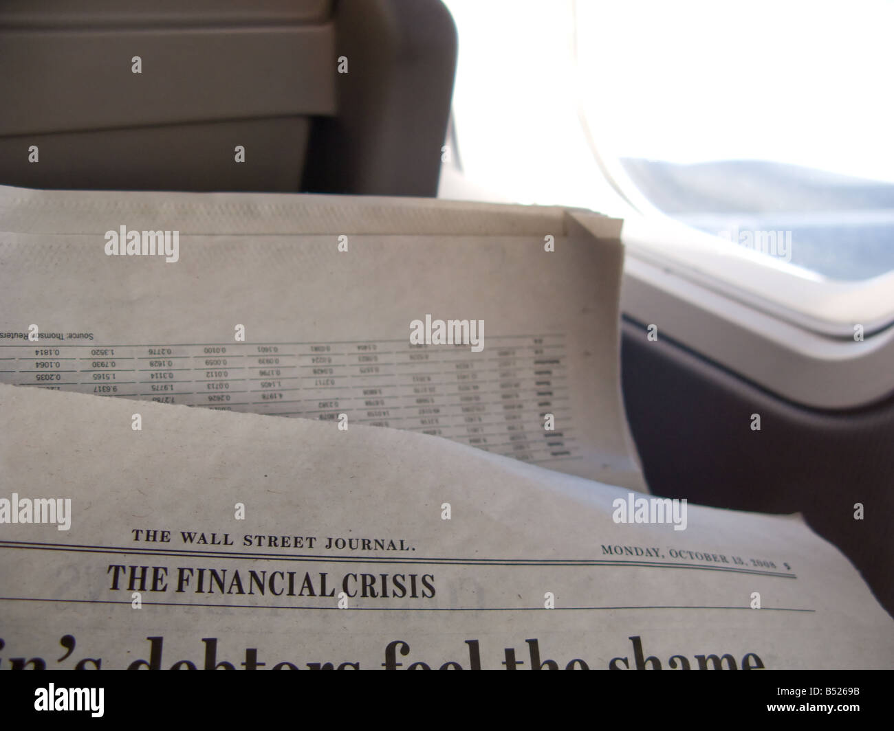 The Wall Street Journal s October 13th 2008 page on the financial crisis / crash - Stock Image