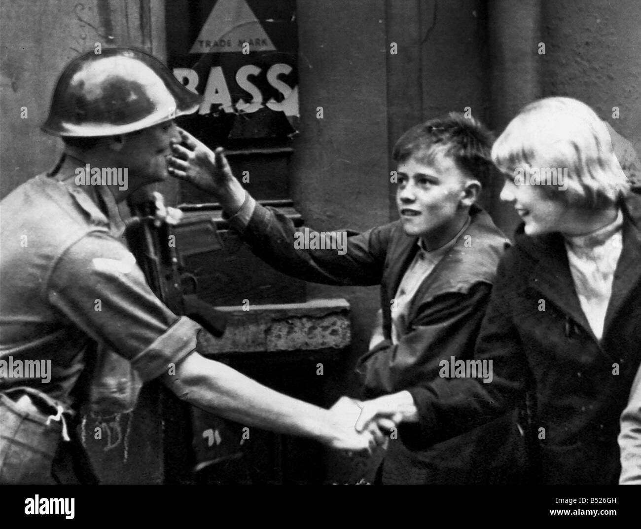 British soldier in Northern Ireland 1969 - Stock Image