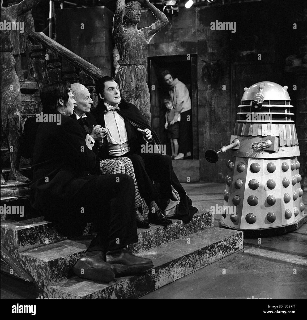 Television programme Dr Who May 1965 a scene from the TV series with William Hartnell as Dr Who John Maxim as Frankenstein Stock Photo