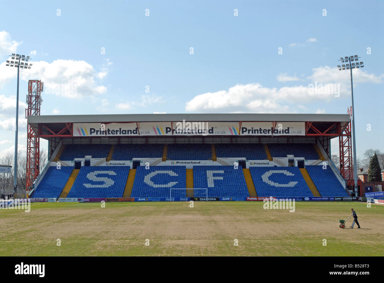 Stockport County AFC Sale Sharks Edgeley Park - Stock Image