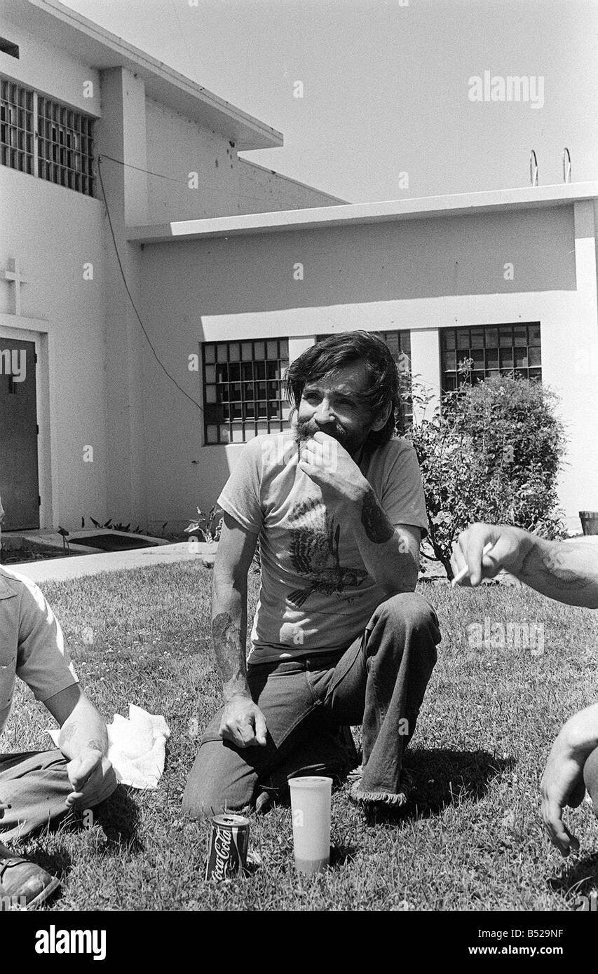 Charles Manson August 1980 The man who murdered Sharon Tate Stock