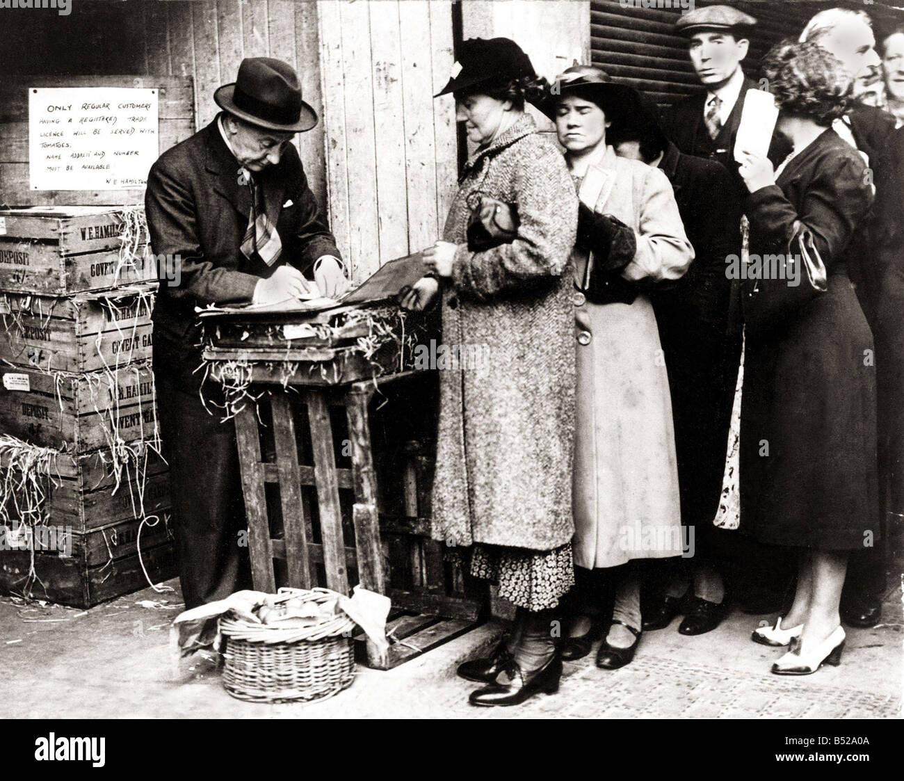 World War Two Rationing in Britain During the Second World War 1939 45 there were a lot of shortages of essential - Stock Image