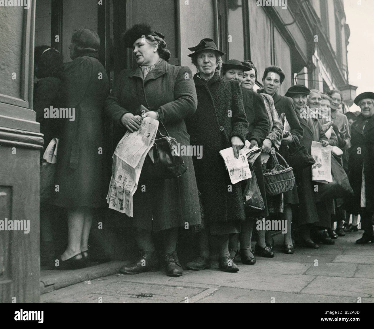 Post War Food Rationing During the Second World War 1939 45 there were a lot of shortages of essential foodstuffs - Stock Image