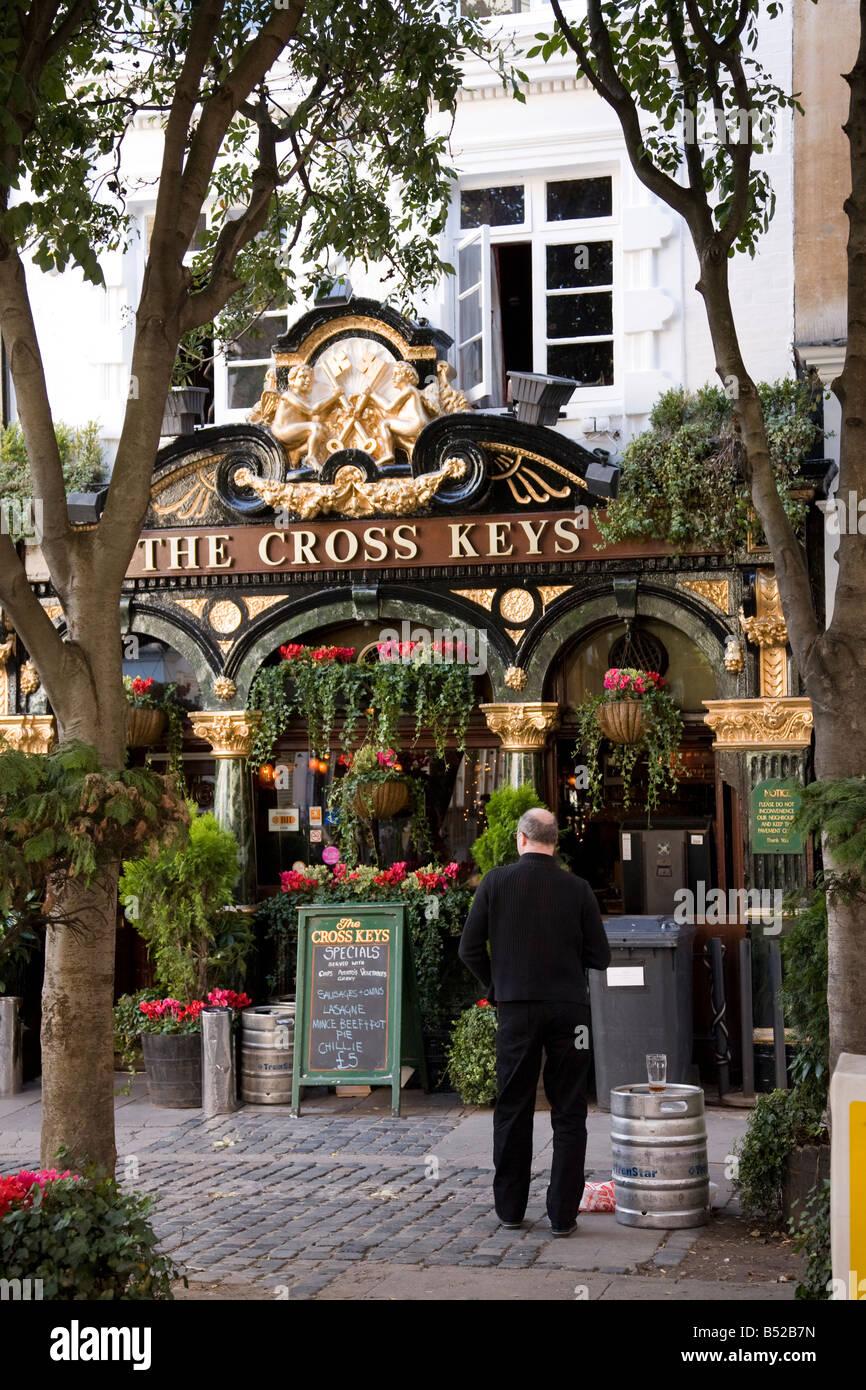 The Cross Keys pub on Endell Street in Covent Garden London - Stock Image