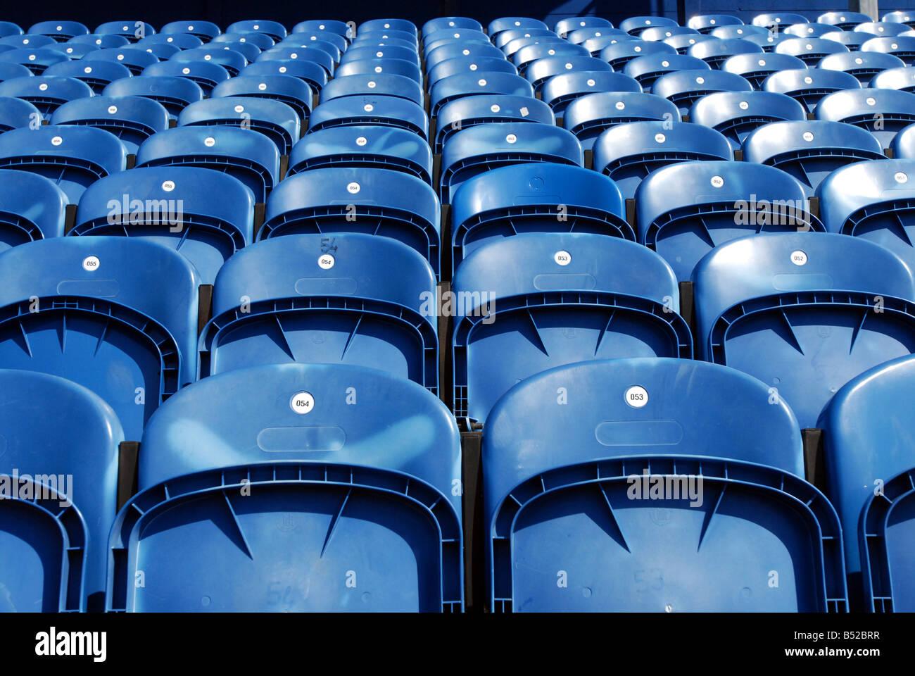 Blue Seating - Stock Image