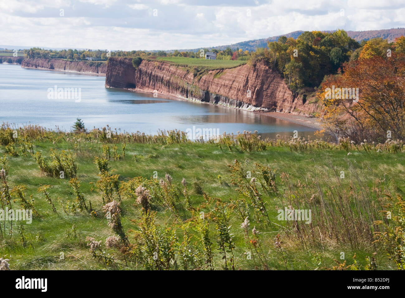 View of Bay of Fundy at high tide - Blomidon Provincial Park, Nova Scotia, Canada Stock Photo