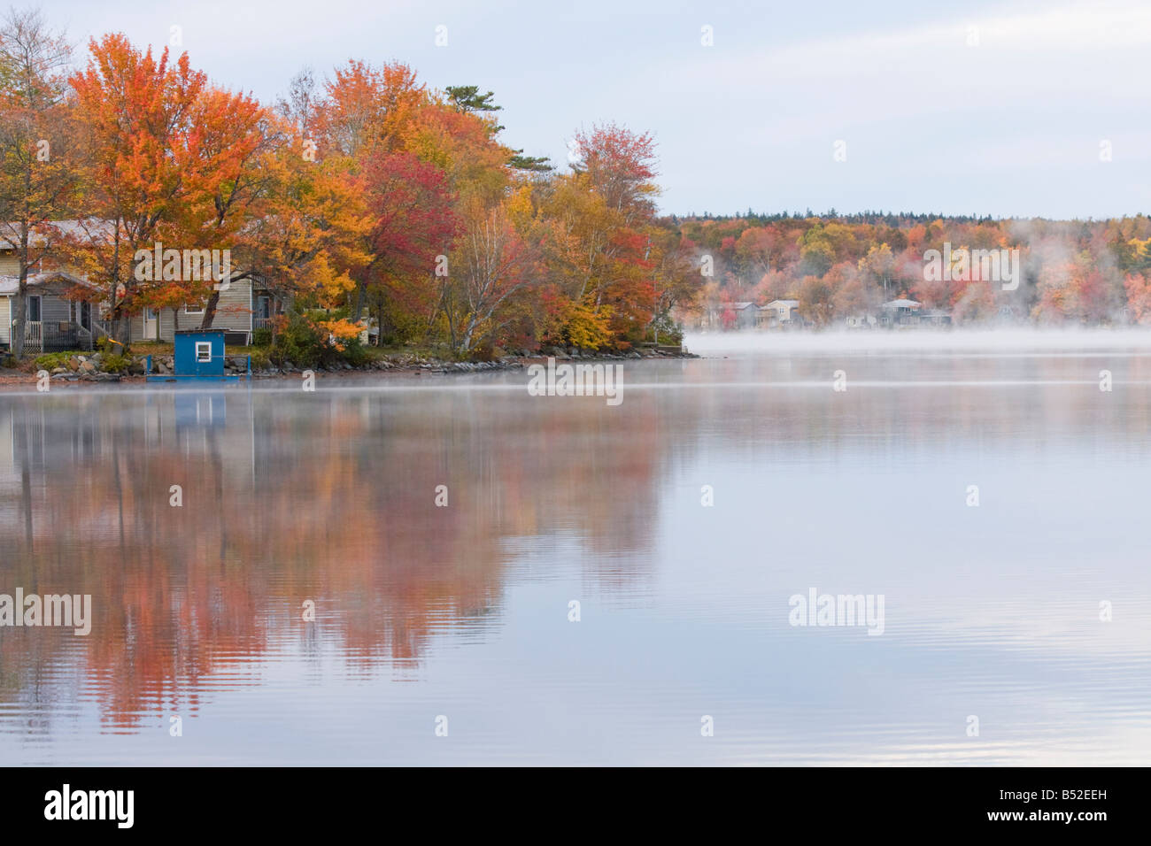 Fall colours on the shores of Fletcher Lake - Fall River, Nova