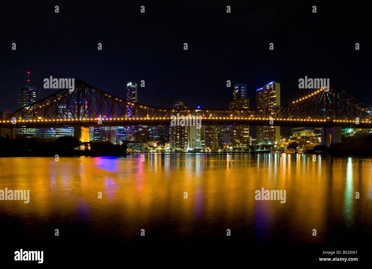 Story Bridge and Brisbane city skyline. Australia, Queensland, Brisbane. - Stock Image