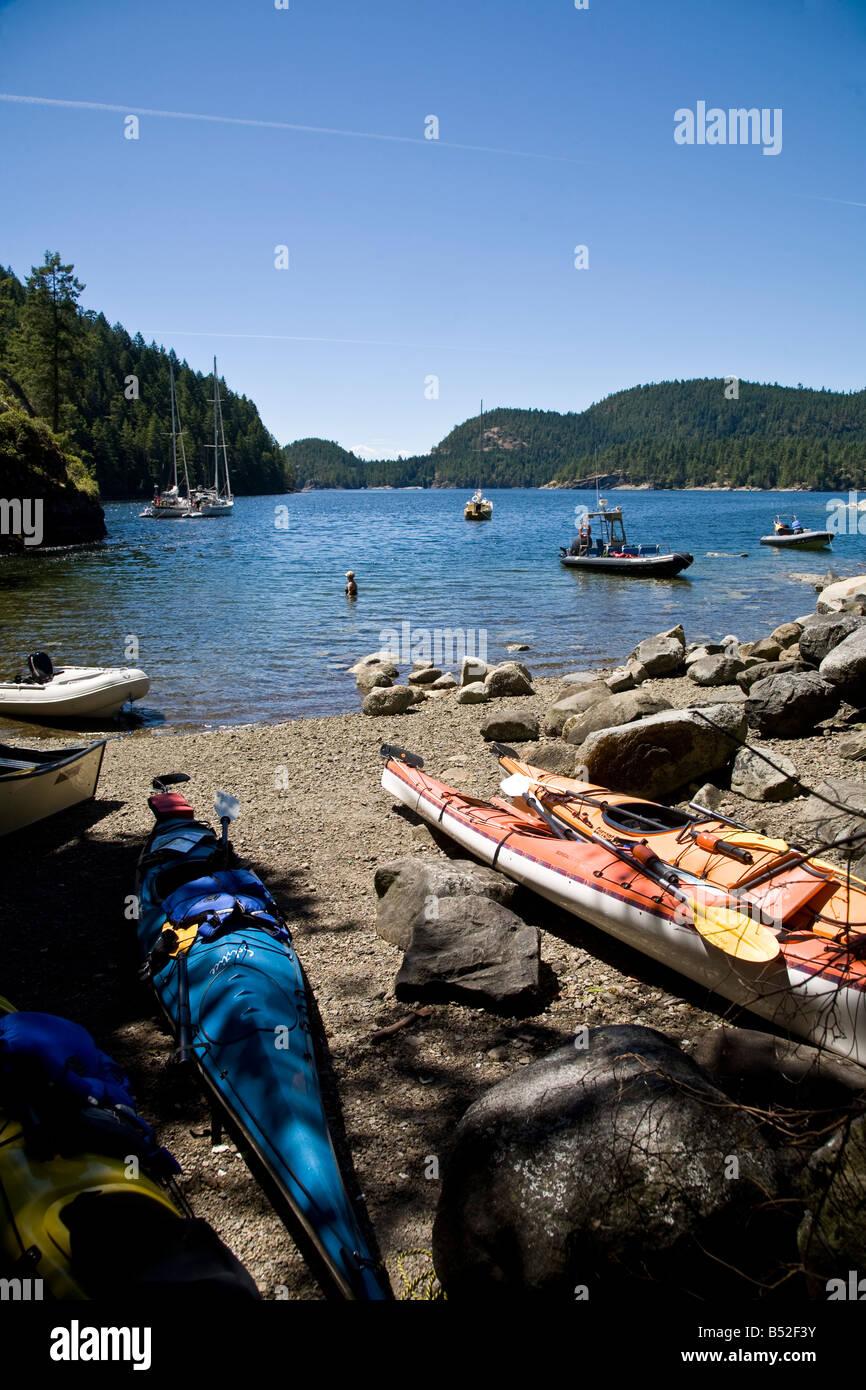 Tenedos Bay Desolation Sound British Columbia Canada - Stock Image