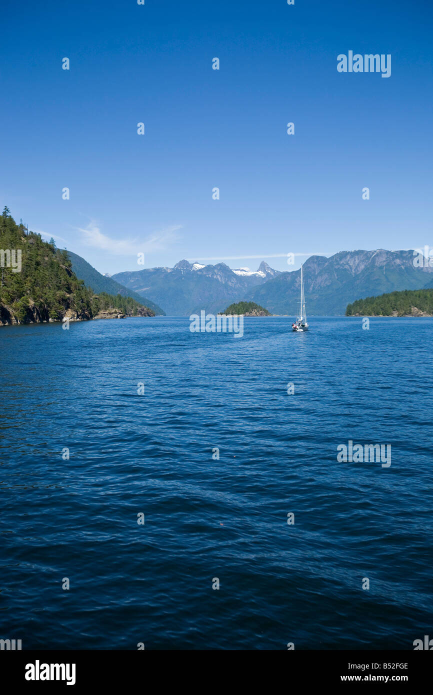 Desolation Sound British Columbia Canada - Stock Image