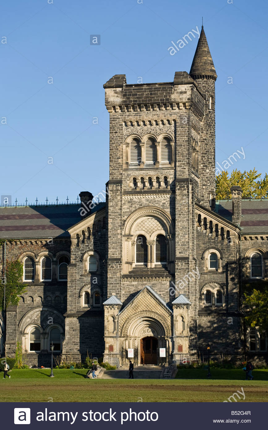 Front of University College at the University of Toronto in Toronto Ontario Canada - Stock Image