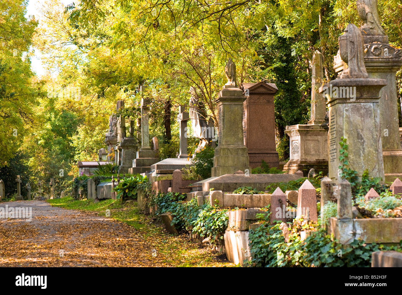 Highgate Cemetery Highgate N6 London United Kingdom - Stock Image