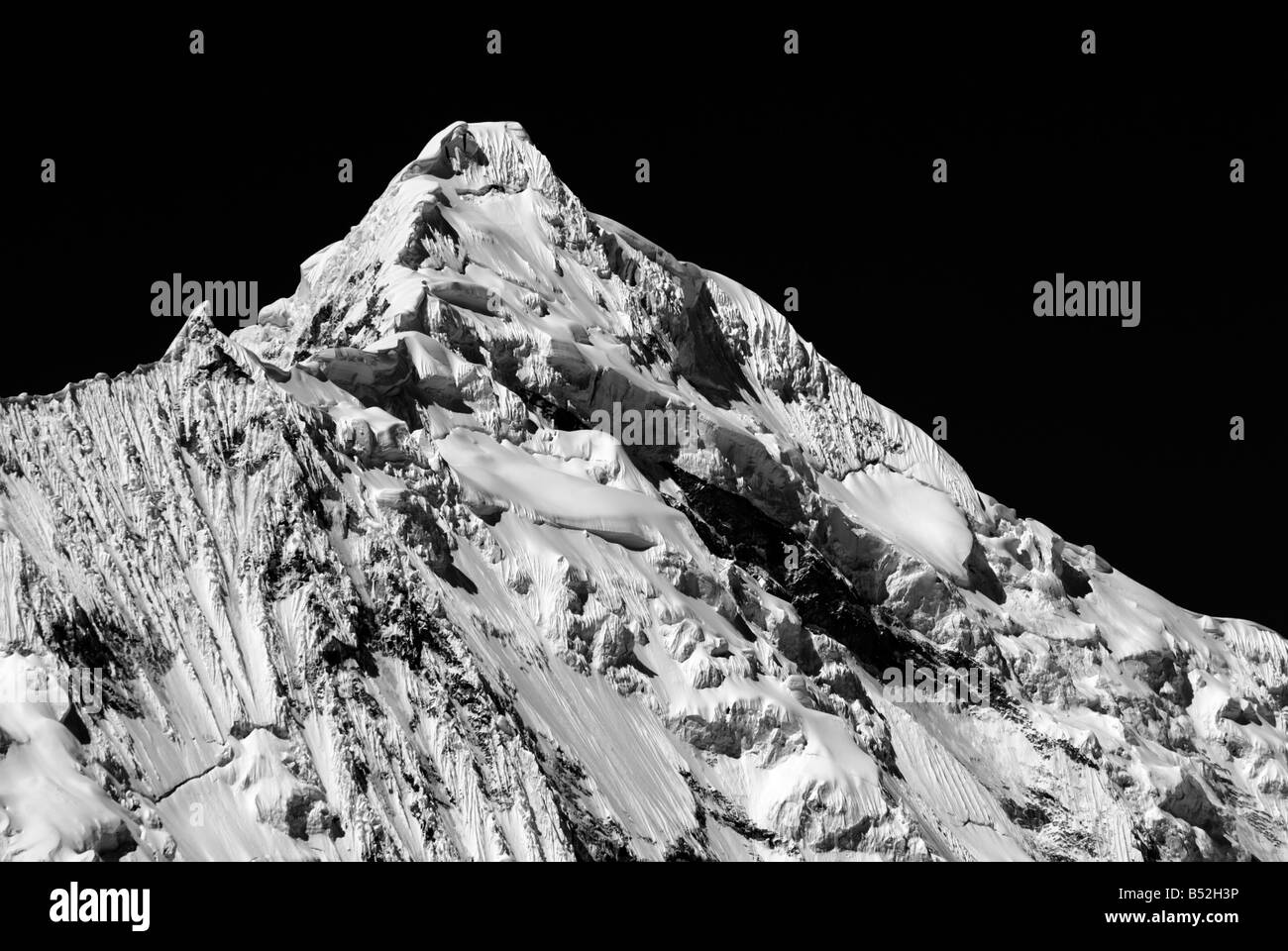 West face of Chopicalqui 6,354m, Cordillera Blanca, Peruvian Andes, Peru - Stock Image