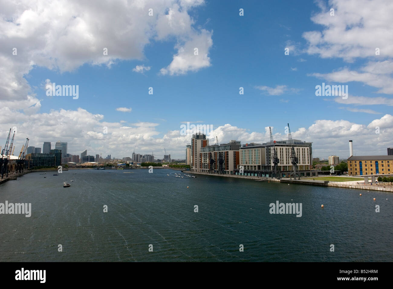 the Royal Victoria Dock - Silvertown - East London - UK - Stock Image