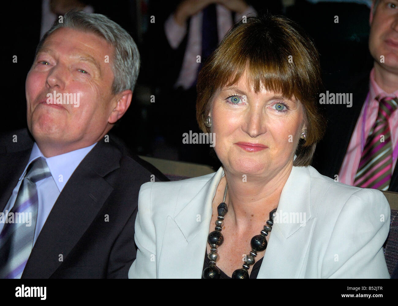 Labour Conference in Manchester - Harriet Harman wins the vote for Deputy Leader of the Labour Party with Alan Johnson - Stock Image