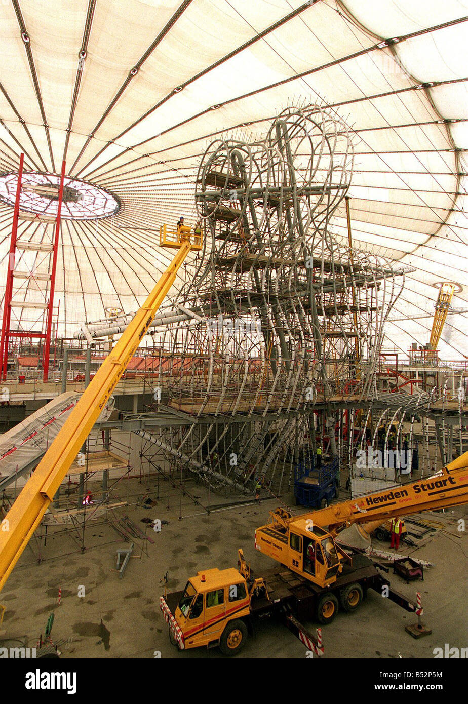 Millennium Dome Construction Site Stock Photos
