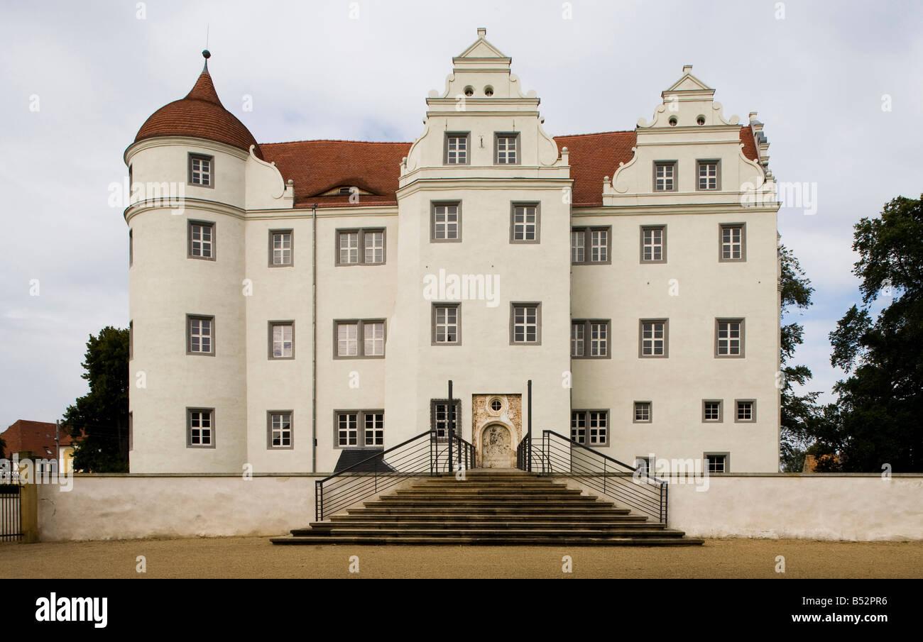 Großkmehlen, ehemaliges Wasserschloß, Ostfassade - Stock Image
