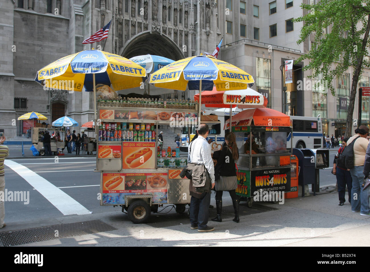 Auto Sale Shops Near Me: New York City Street Vendors Selling Hot Dogs, And Candied