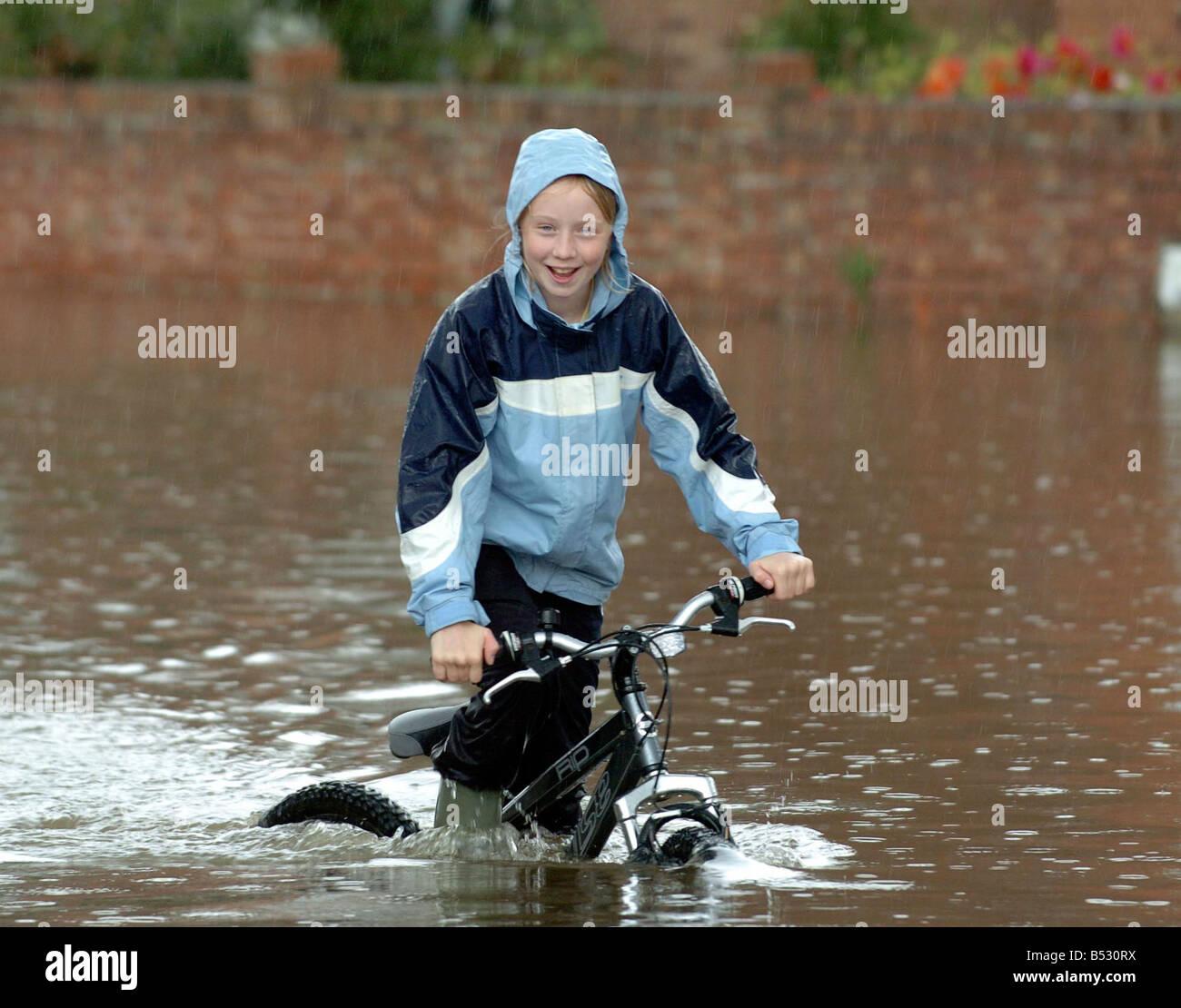 Floods in Longford, Gloucester - Stock Image