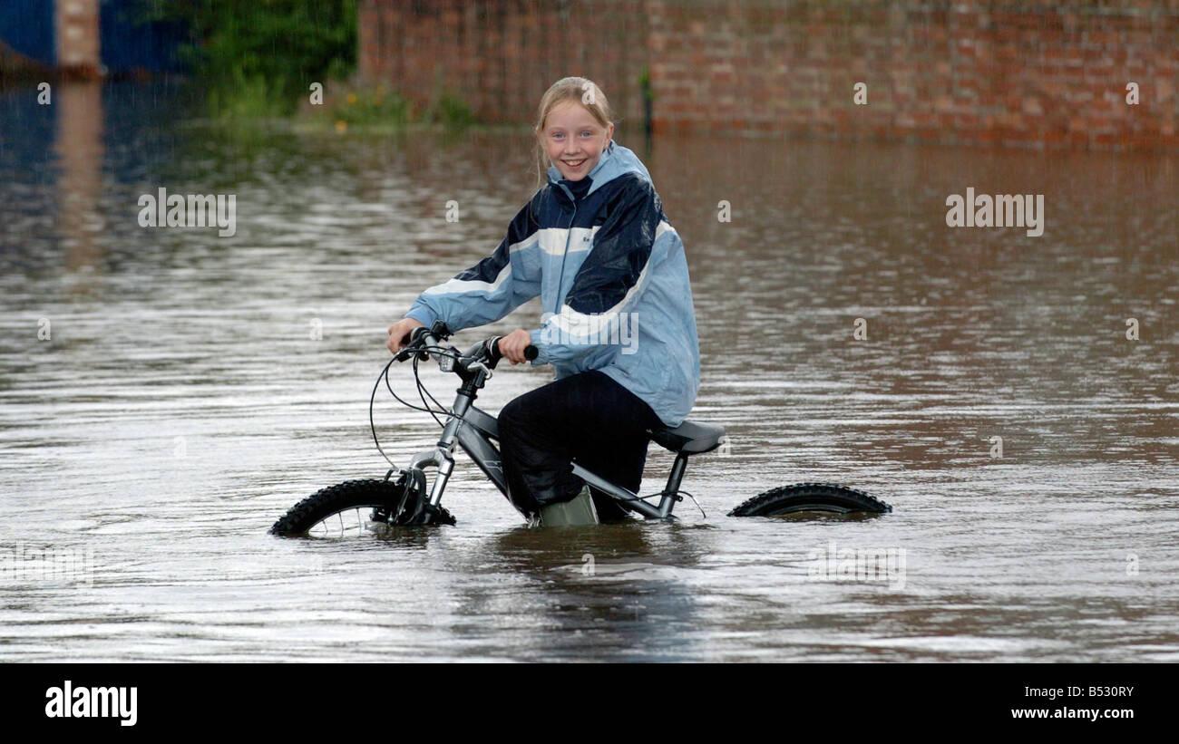 Floods in Longford Gloucester - Stock Image
