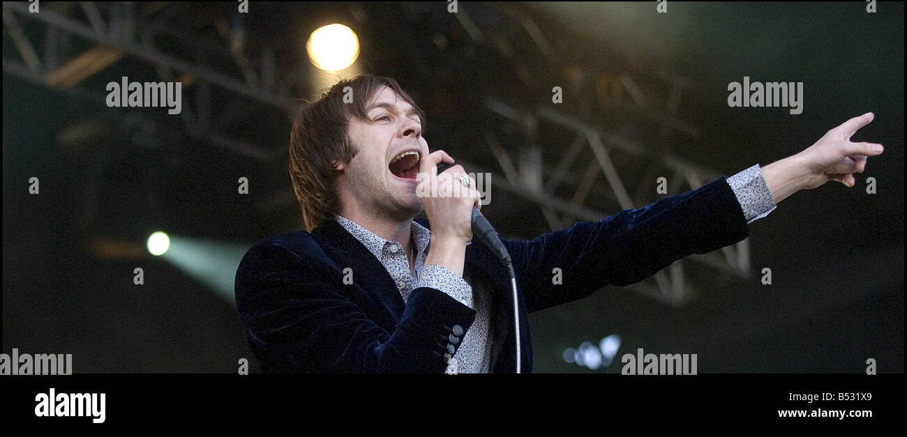 T In The Park July 2007 Kasabian headline the NME stage Stock Photo