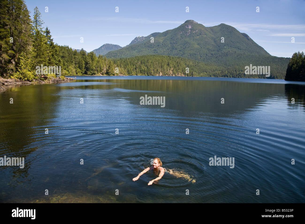 Unwin Lake Desolation Sound British Columbia Canada - Stock Image