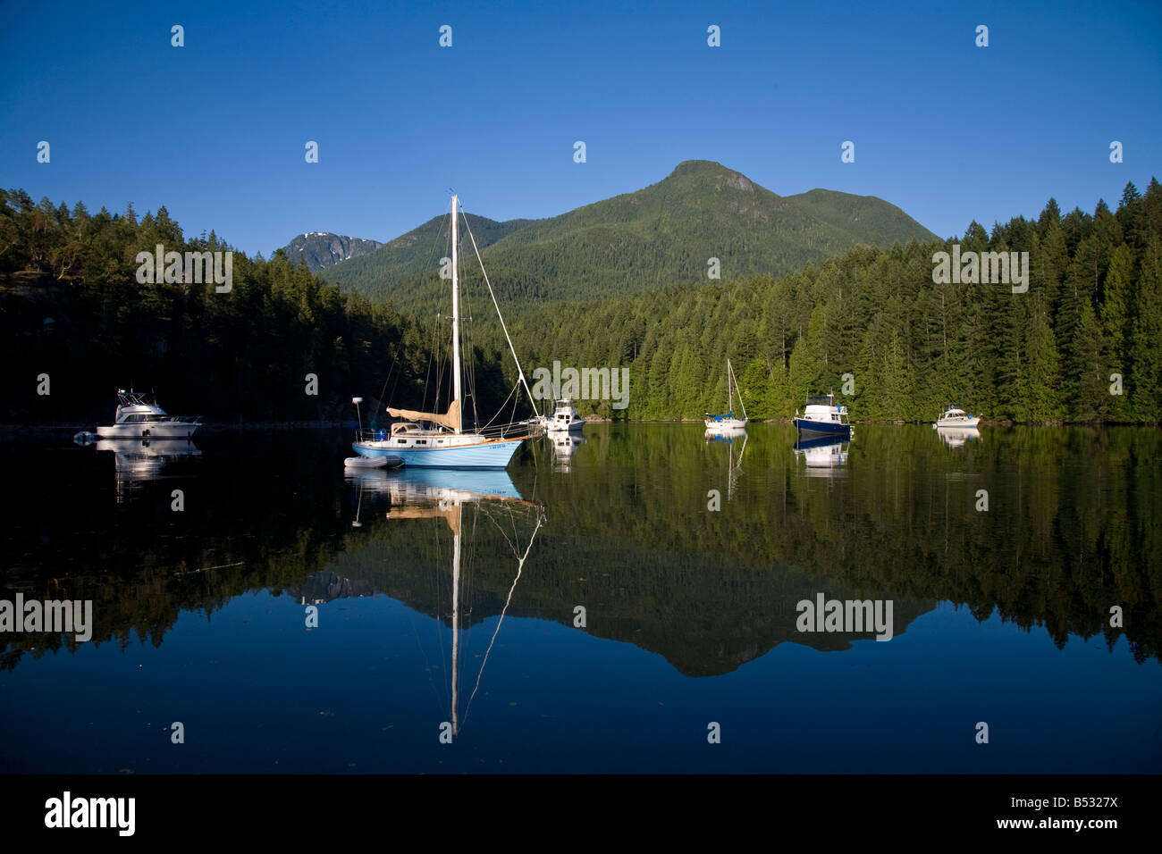 Melanie Cove Desolation Sound British Columbia Canada - Stock Image