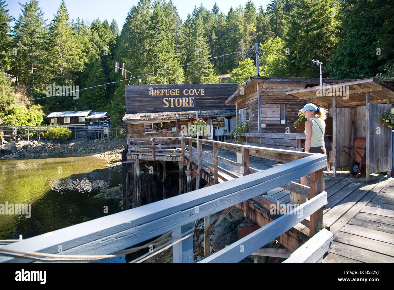Refuge Cove Desolation Sound British Columbia Canada - Stock Image