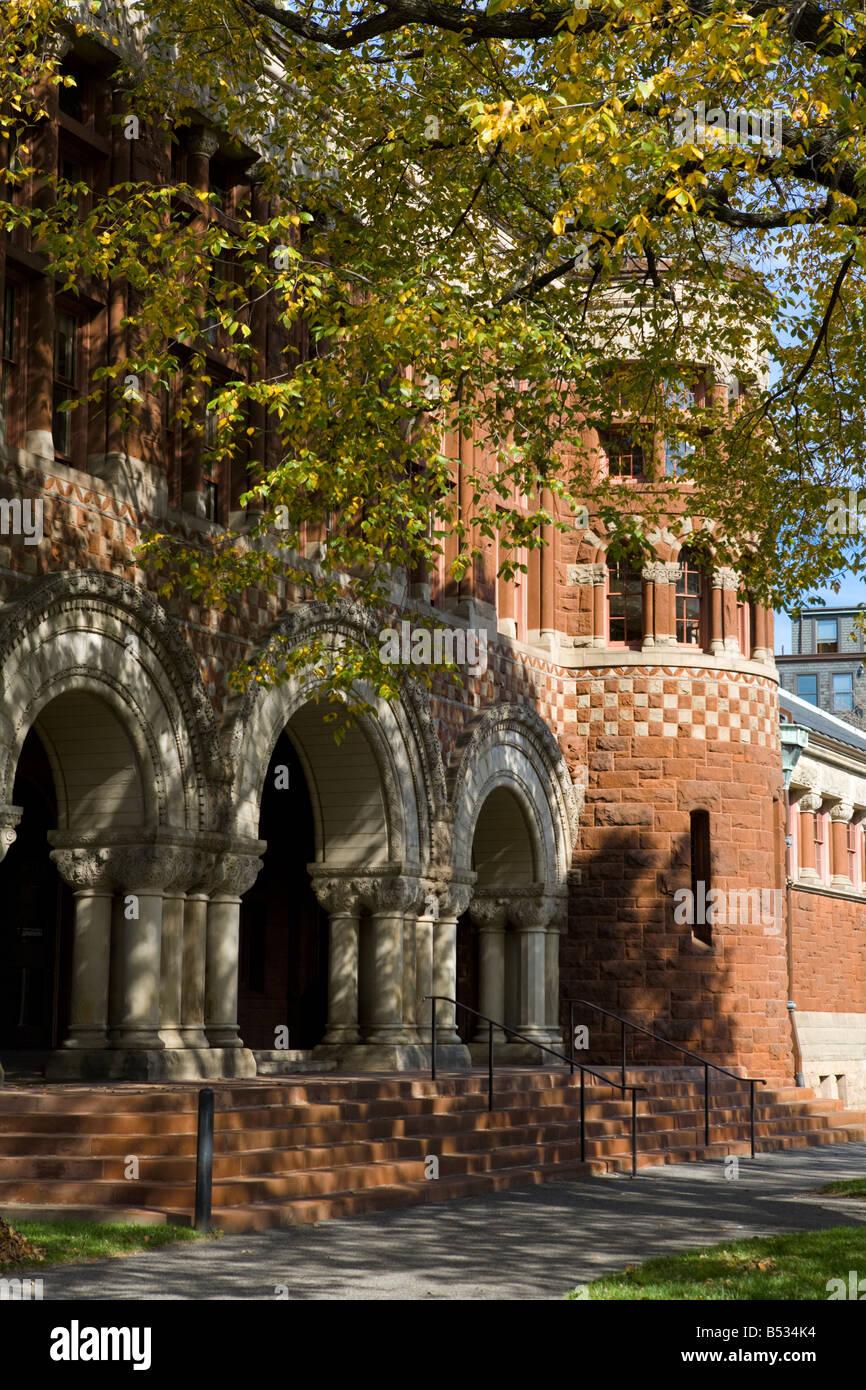 Austin Hall Harvard Law School Harvard University Cambridge Massachusetts - Stock Image