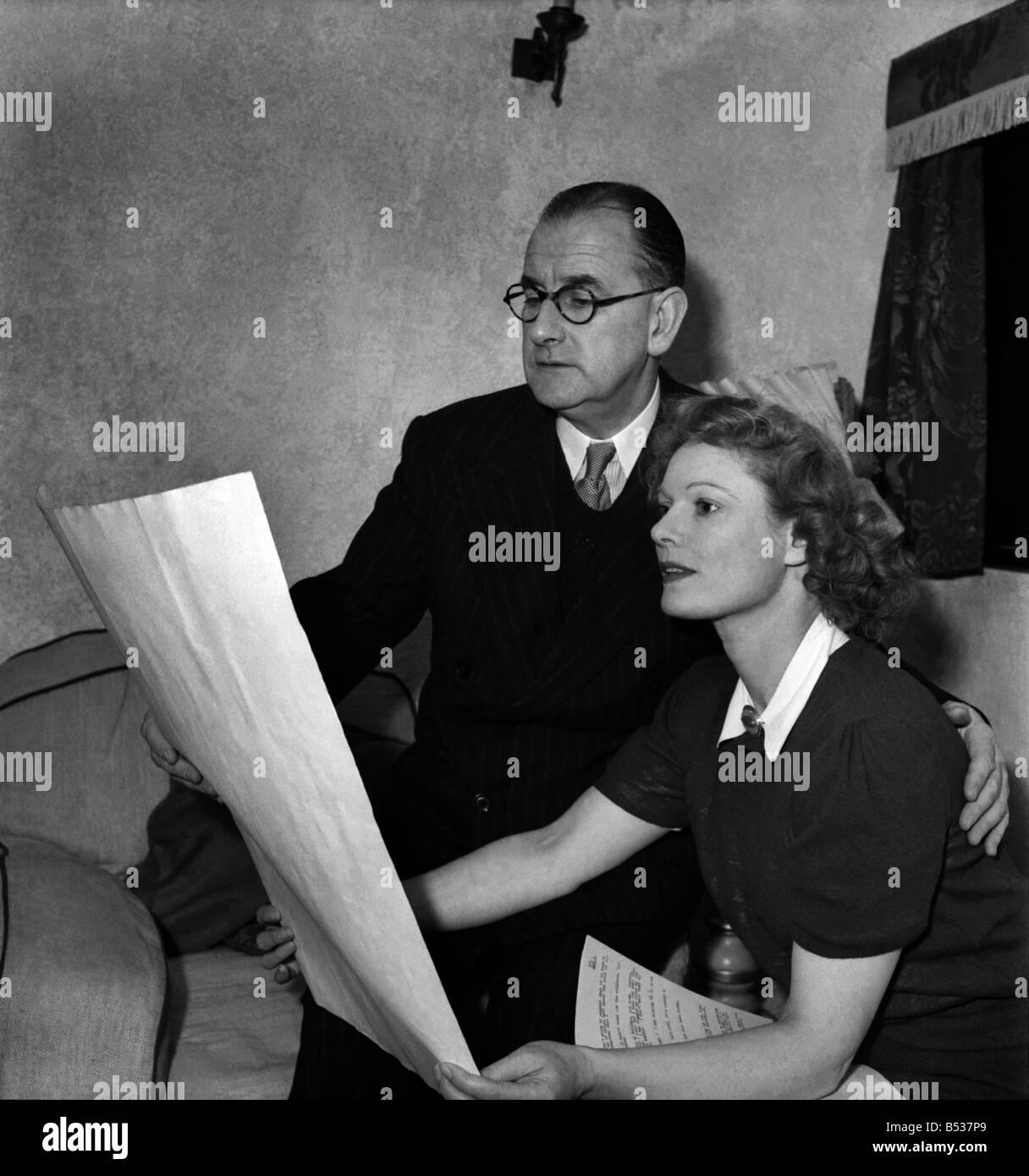 Anna Neagle and husband Herbert Wilcox. January 1948 O11114-003 - Stock Image