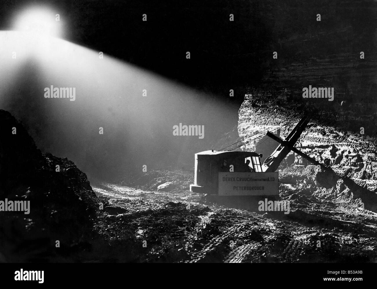 Illuminate the work at Bothal, near Ashington Northumberland. April 1946 P017827 - Stock Image