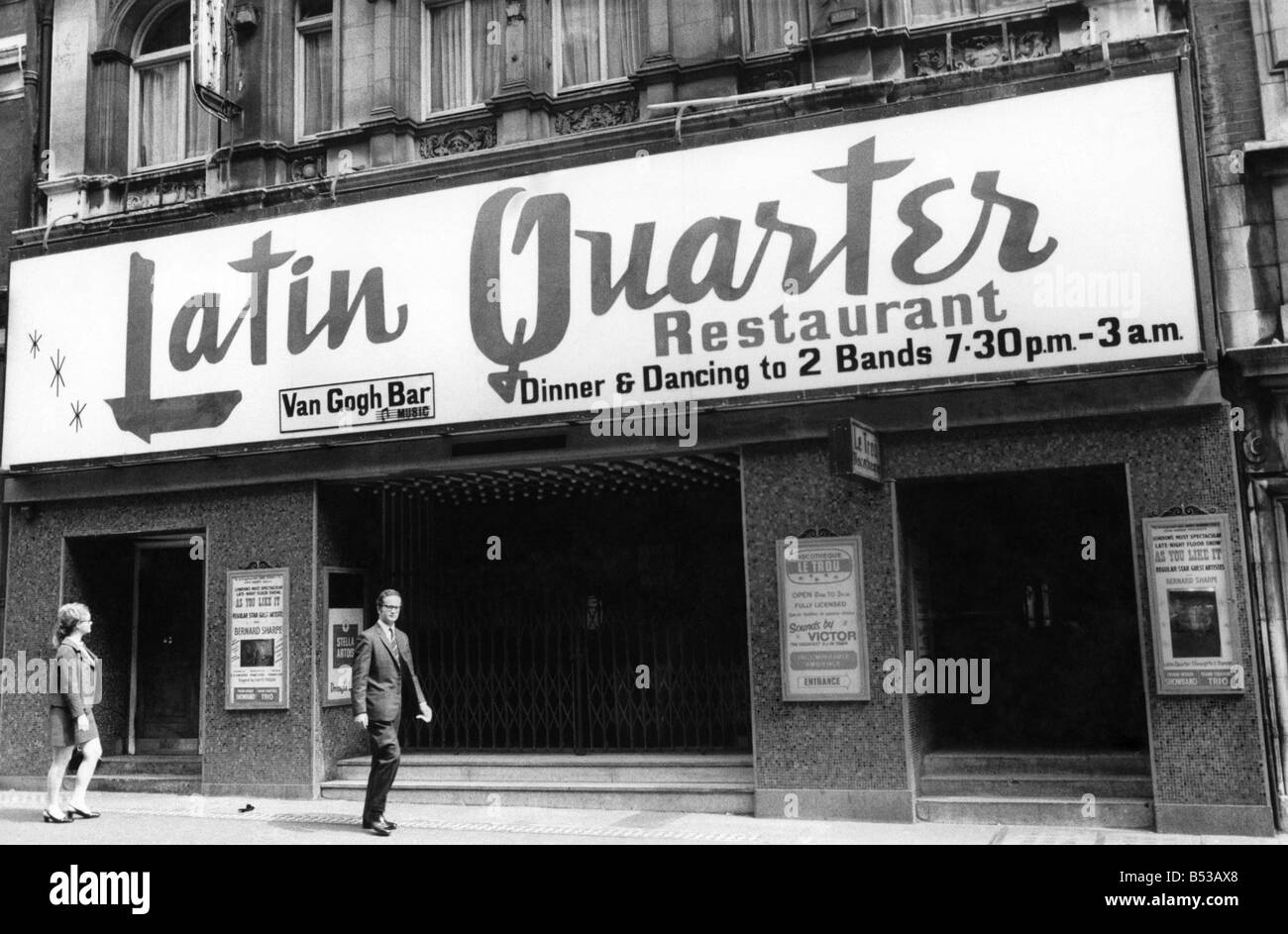 The Latin Quarter Night Club, Wardour Street, off Leicester  Square. 