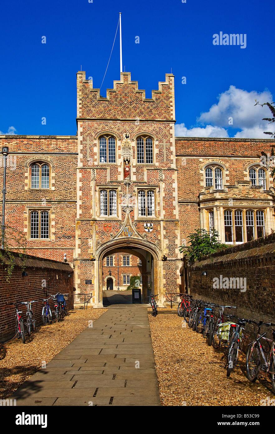 Jesus college. Cambridge. - Stock Image