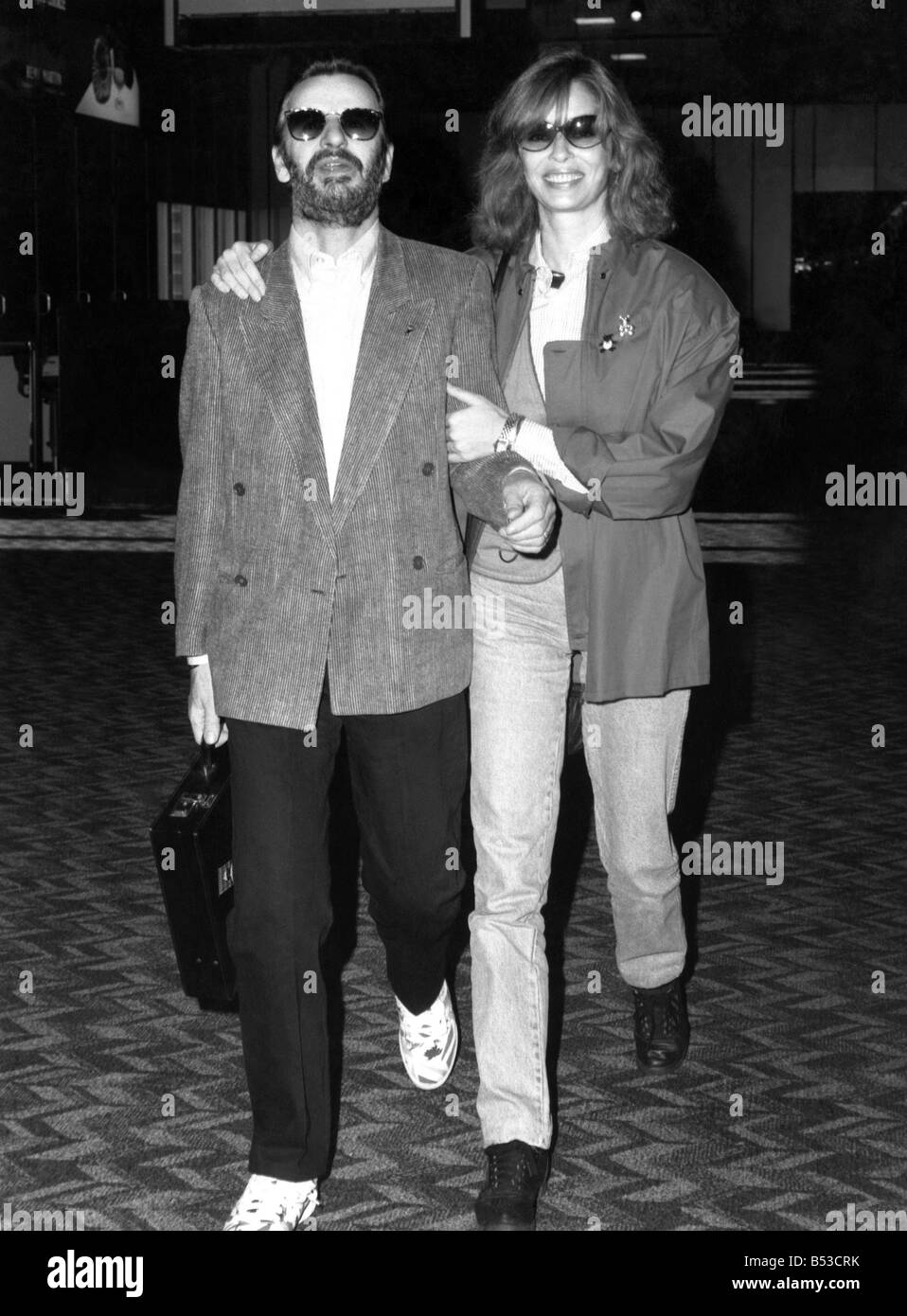 Ex Beatle Ringo Starr And His Wife Barbara Bach Were Spotted Leaving Londons Heathrow Airport 131087 November 1987