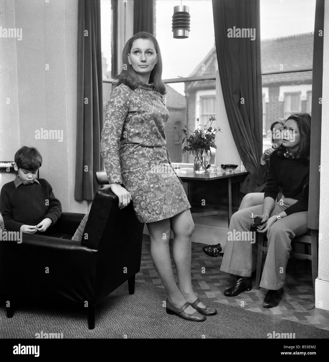 British family feature: Portrait of a middle aged woman and mother. November 1969 Z11311-014 - Stock Image