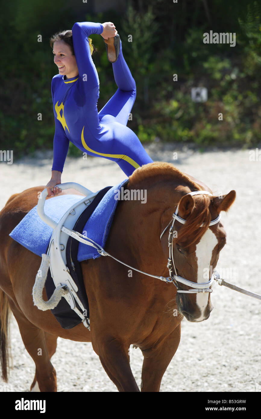 Vaulting - exercise - Stock Image