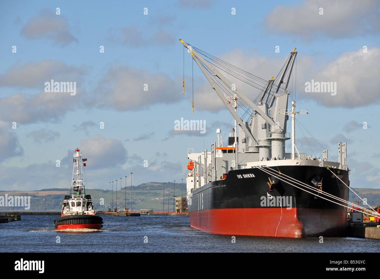 IVS Shikra bulk carrier ship - Stock Image