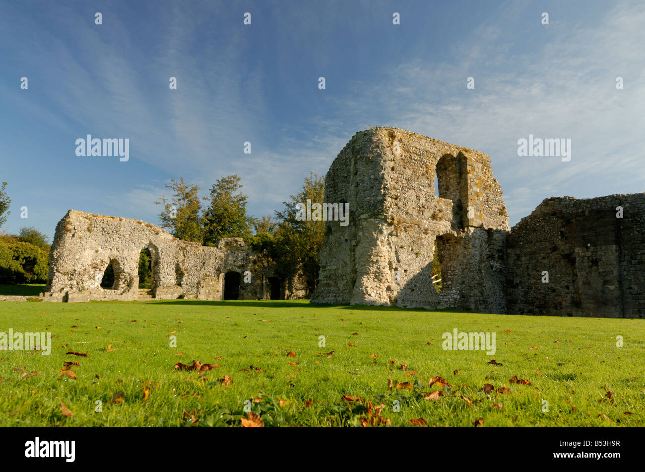 Remains of Cluniac Priory of St Pancras Lewes East Sussex - Stock Image
