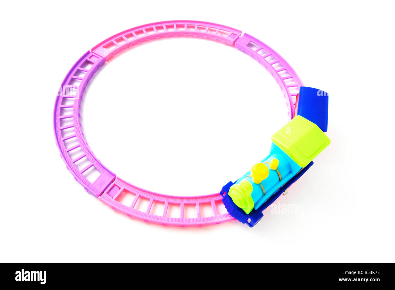 Toy Train and RailwayTrack - Stock Image