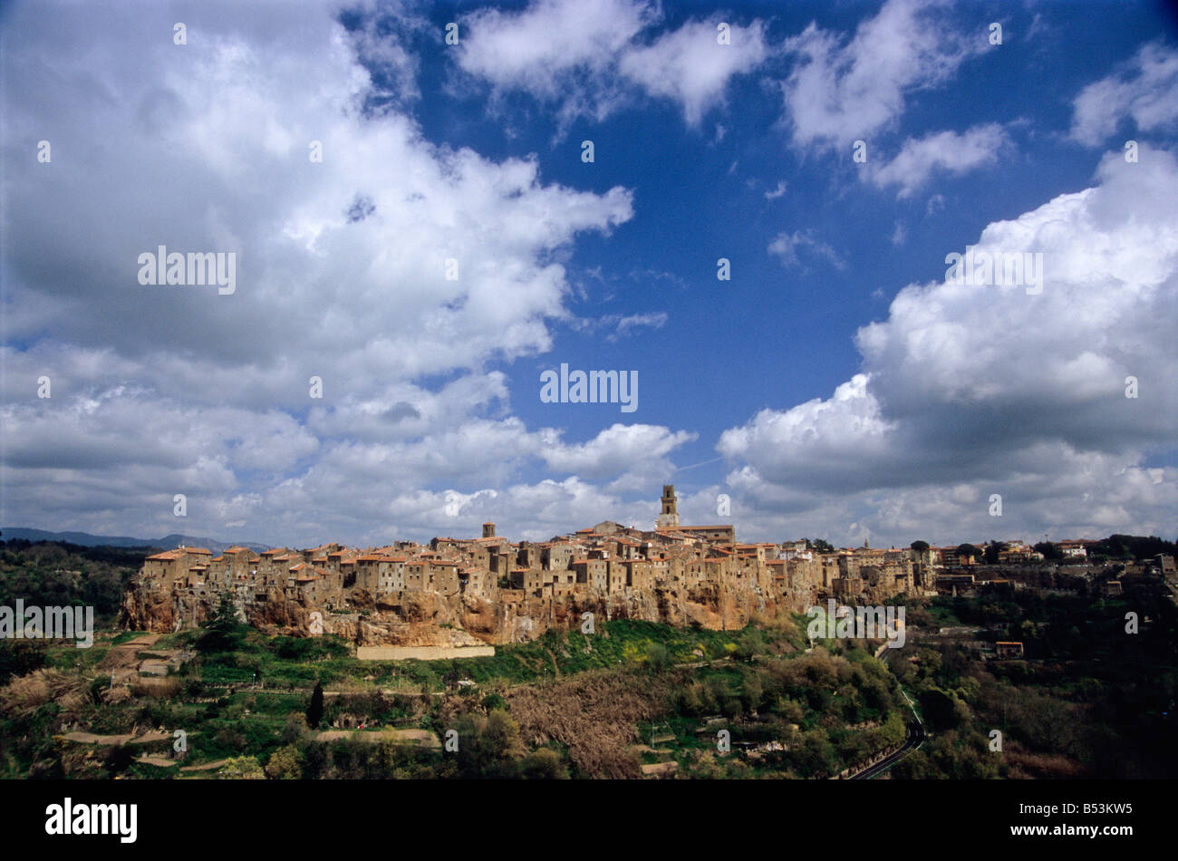 pitigliano, grosseto province, tuscany, italy - Stock Image