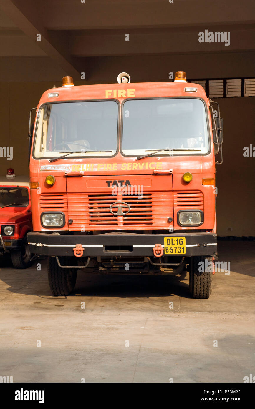 An Indian Fire Engine, New Delhi, India   Stock Image