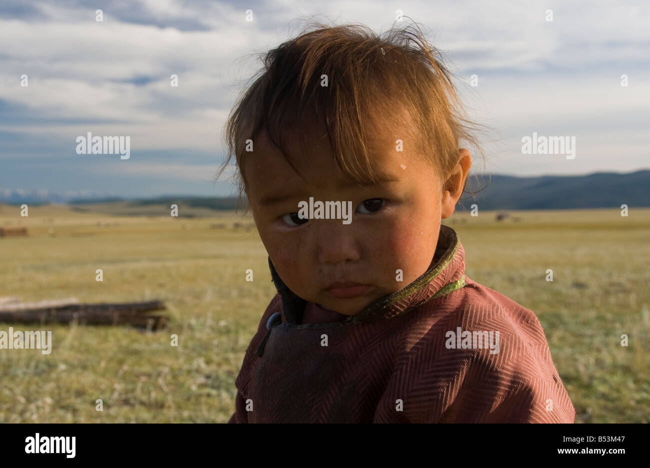 Child in Northern Mongolia - Stock Image