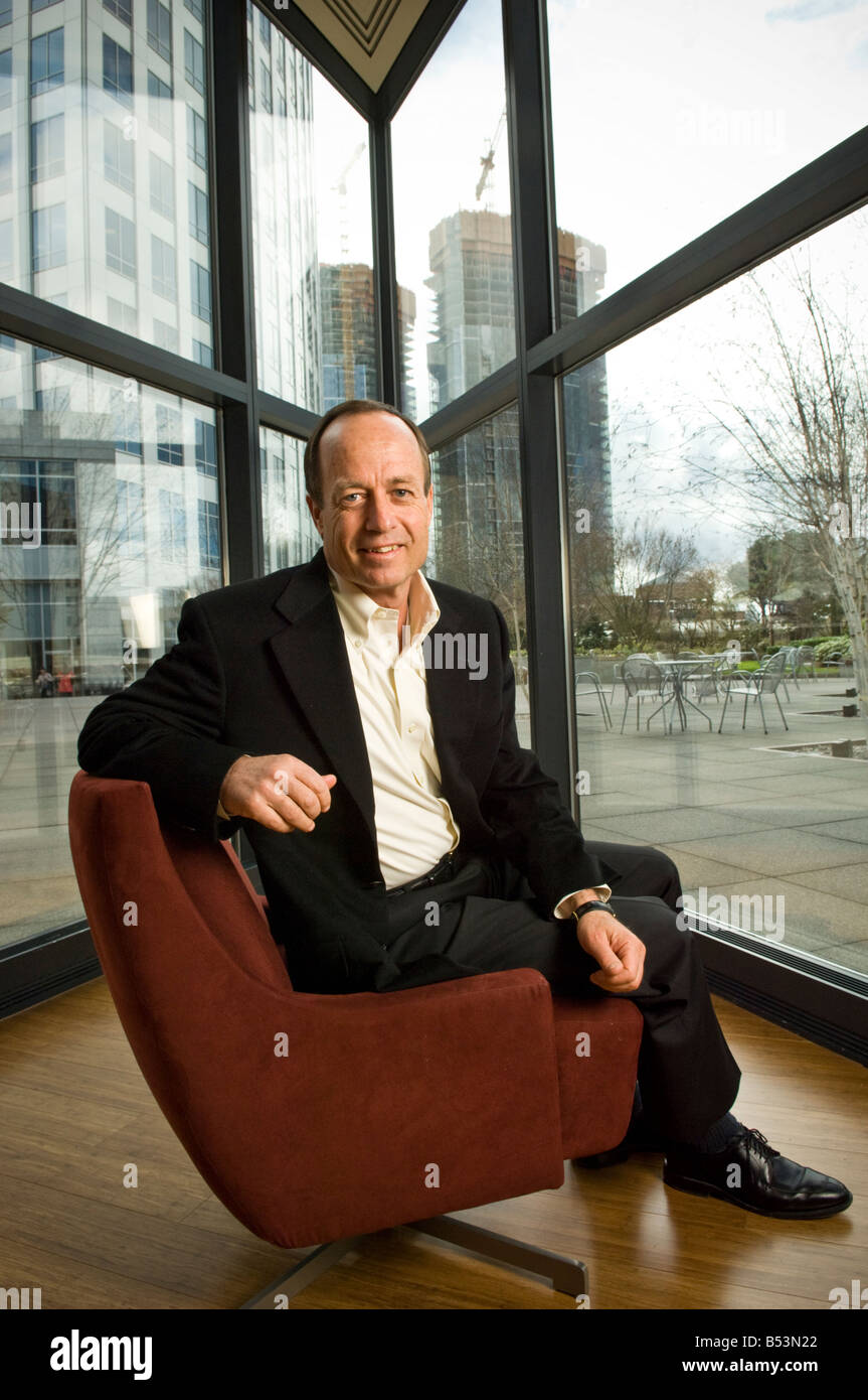Randy Talbot, CEO of Symetra Financial, at the company's headquarters in Bellevue, Washington. Stock Photo