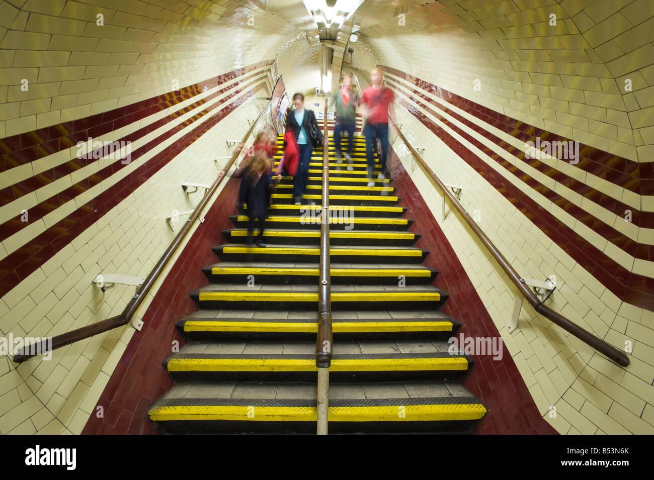 Interior of Hampstead Underground Station London United Kingdom - Stock Image